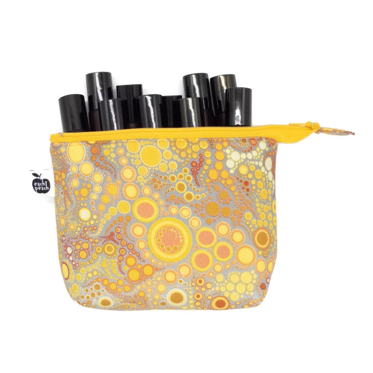 Yellow roller bottle bag