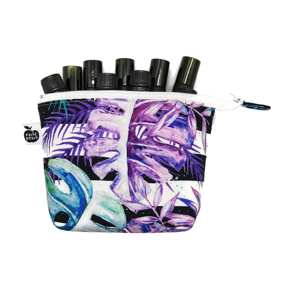 essential oil zipper tote purple monsteriosa