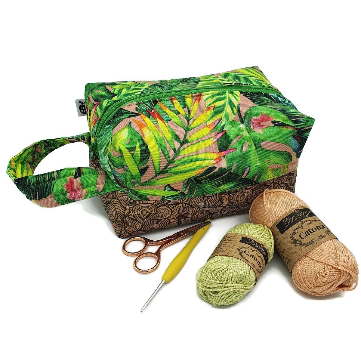 Tropical Knitting Bag
