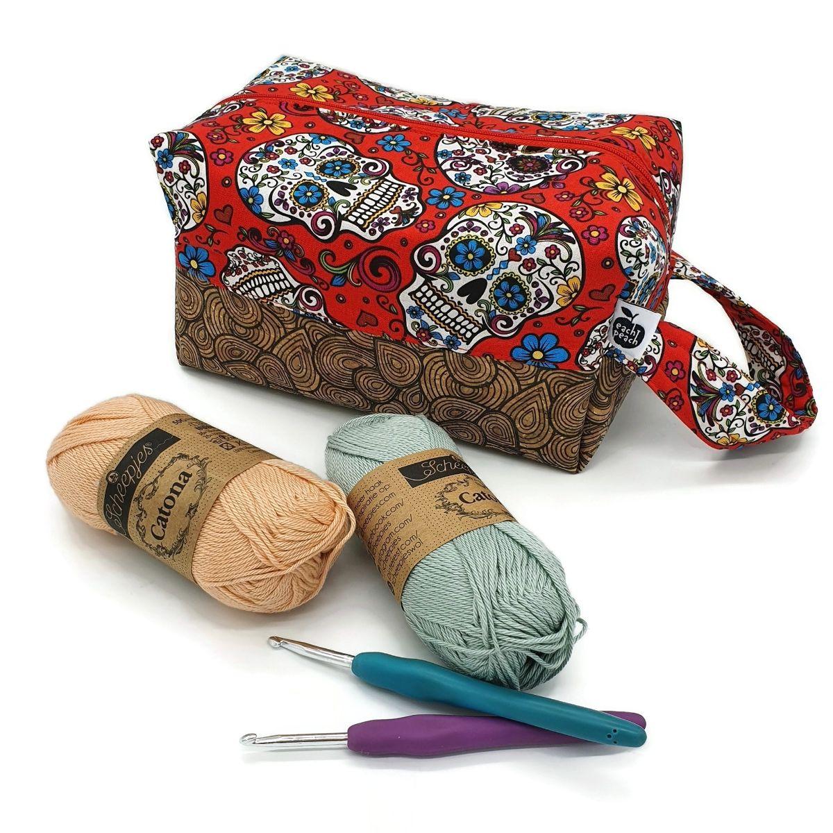 Skull Crochet Bag